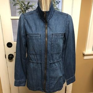 Gap zip front denim anorak style jacket